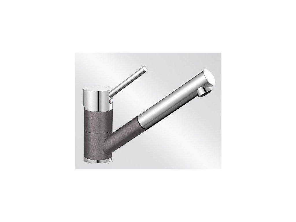 Kuchyňská baterie Blanco ANTAS-S ND Silgranit-look dvoubarevná šedá skála/chrom beztlaková