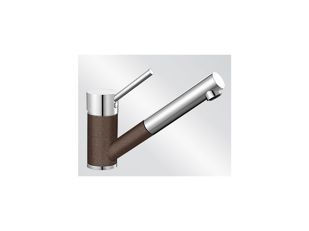 Kuchyňská baterie Blanco ANTAS-S ND Silgranit-look dvoubarevná kávová/chrom beztlaková