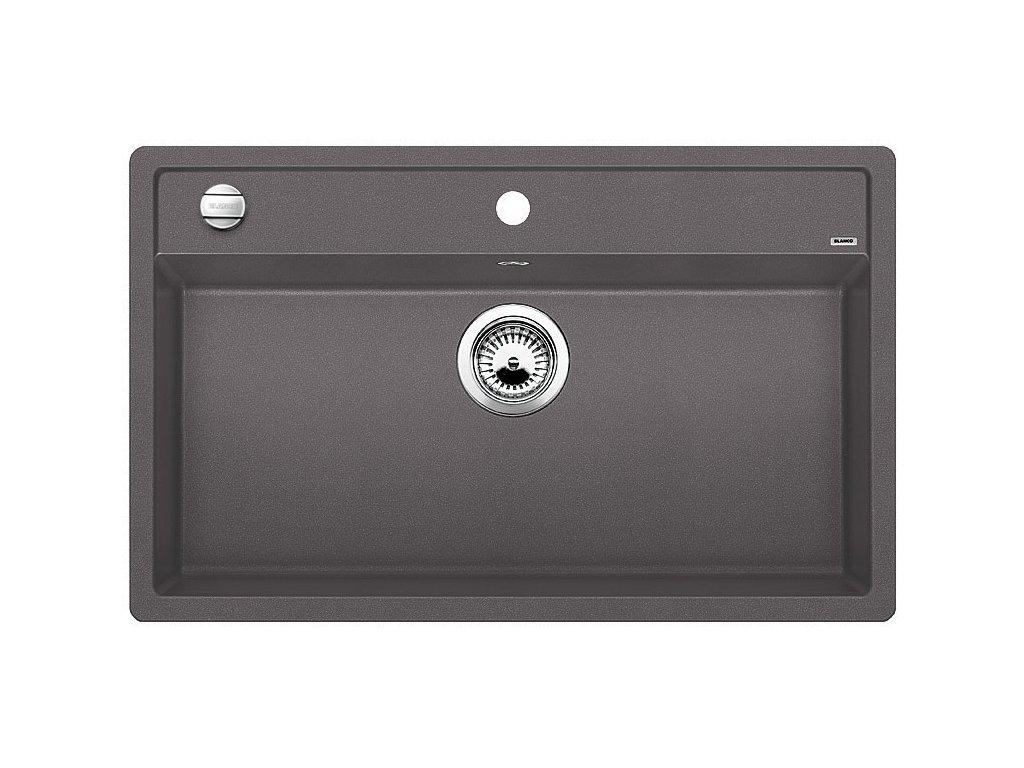 Granitový dřez Blanco DALAGO 8 Silgranit šedá skála oboustranné provedení s excentrem 518852