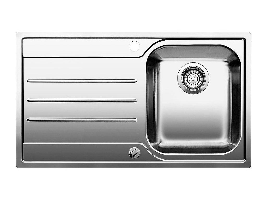 Nerezový dřez Blanco MEDIAN 45 S IF Nerez kartáčovaný dřez vpravo s excentrem