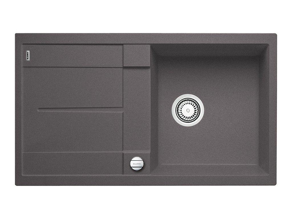 Granitový dřez Blanco METRA 5 S Silgranit šedá skála oboustranné provedení s excentrem 518871