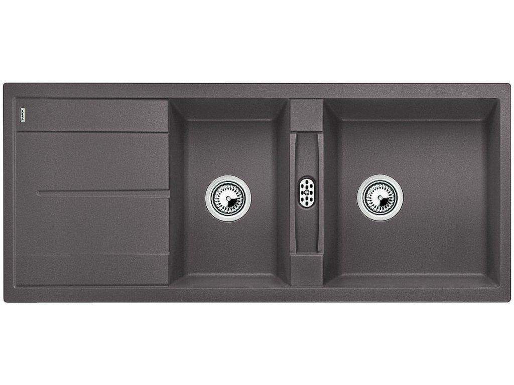 Granitový dřez Blanco METRA 8 S Silgranit šedá skála oboustranné provedení 518884