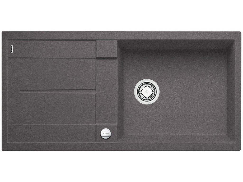 Granitový dřez Blanco METRA XL 6 S Silgranit šedá skála oboustranné provedení s excentrem 518881