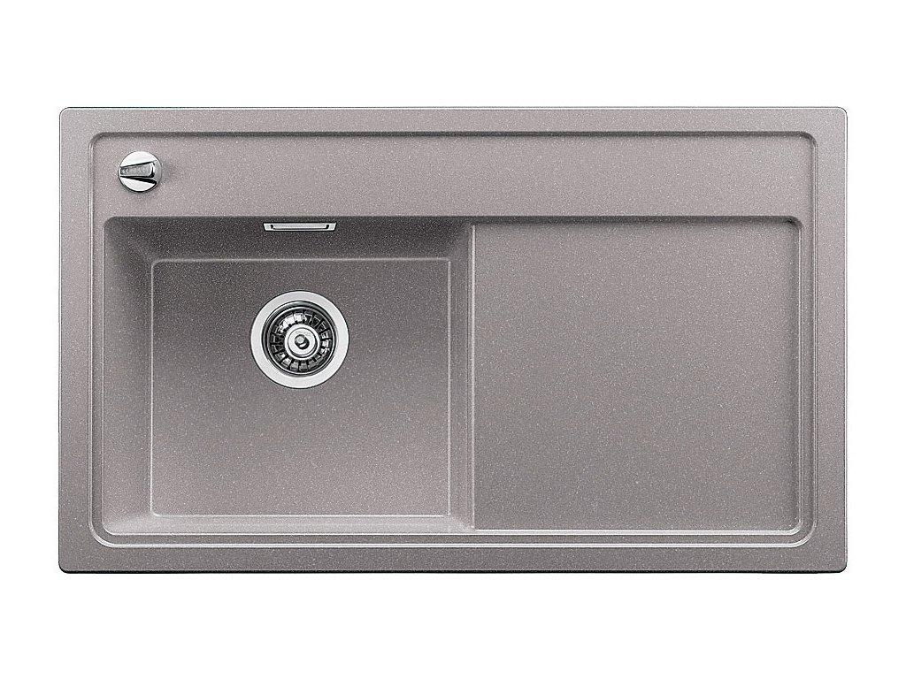 Granitový dřez Blanco ZENAR 45 S Silgranit aluminium dřez vlevo s excentrem a skleněnou krájecí deskou 519263