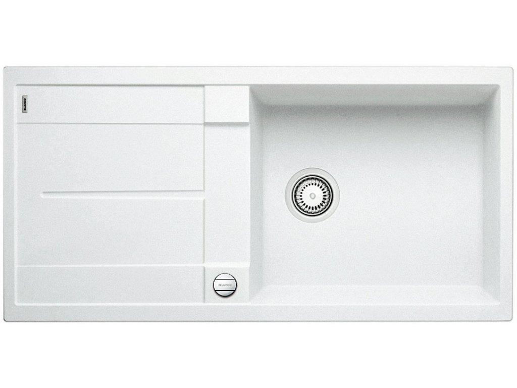 Granitový dřez Blanco METRA XL 6 S F Silgranit bílá oboustranné provedení s excentrem 516522