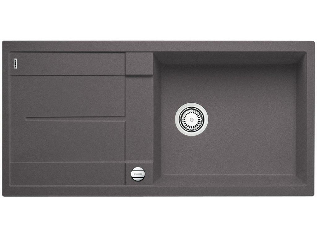 Granitový dřez Blanco METRA XL 6 S F Silgranit šedá skála oboustranné provedení s excentrem 518883