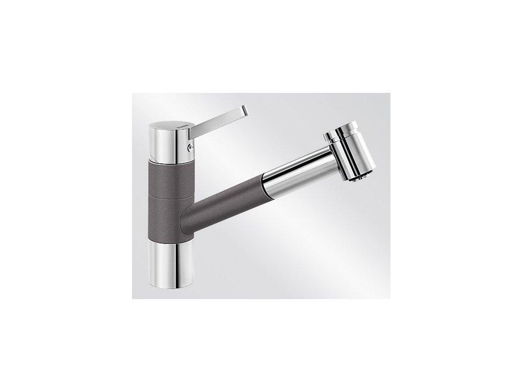 Kuchyňská baterie Blanco TIVO-S HD Silgranit-look dvoubarevná šedá skála/chrom
