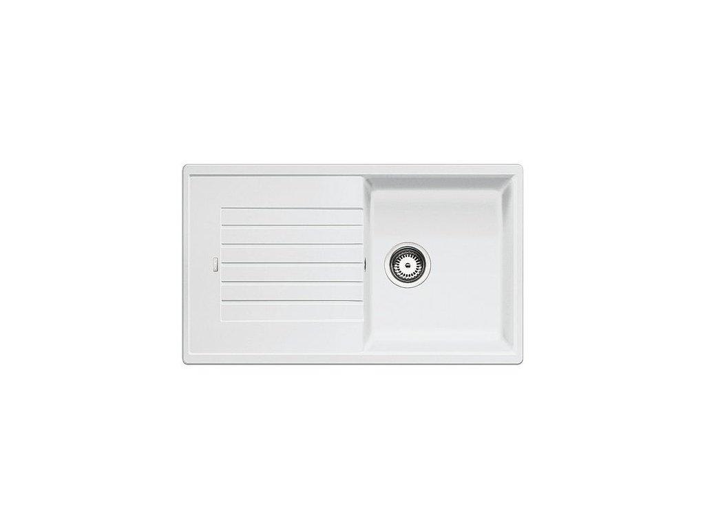 Granitový dřez Blanco ZIA 5 S Silgranit bílá oboustranné provedení  bez excentru 520515