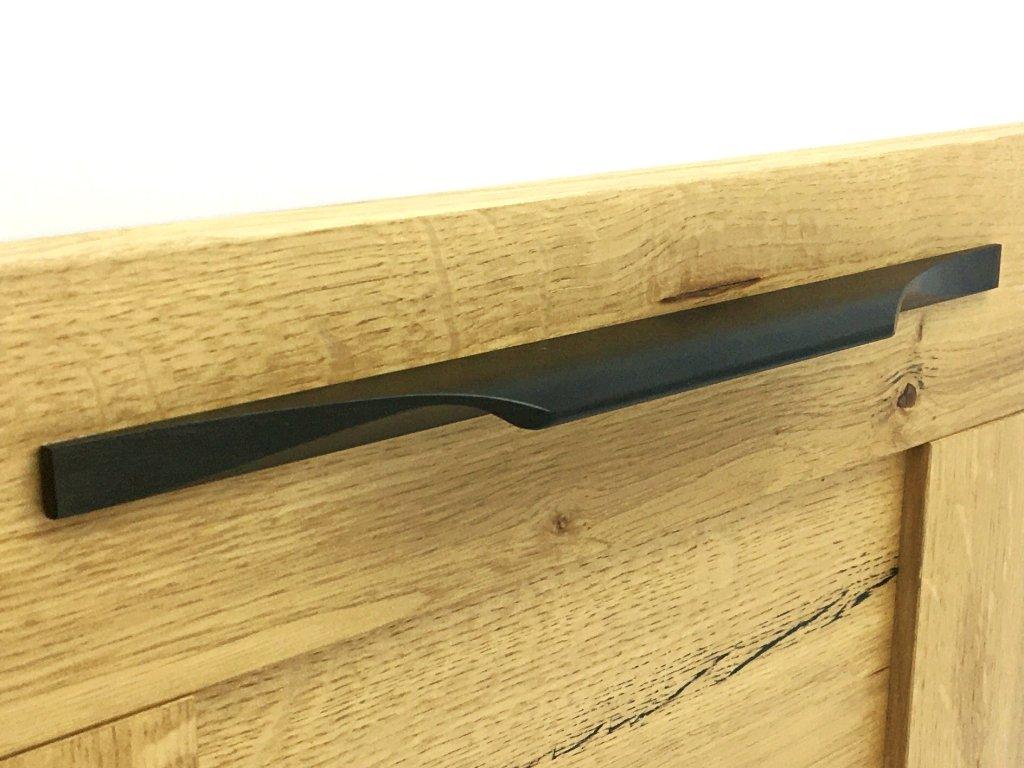 nabytkova uchytka surface cerna detail 1