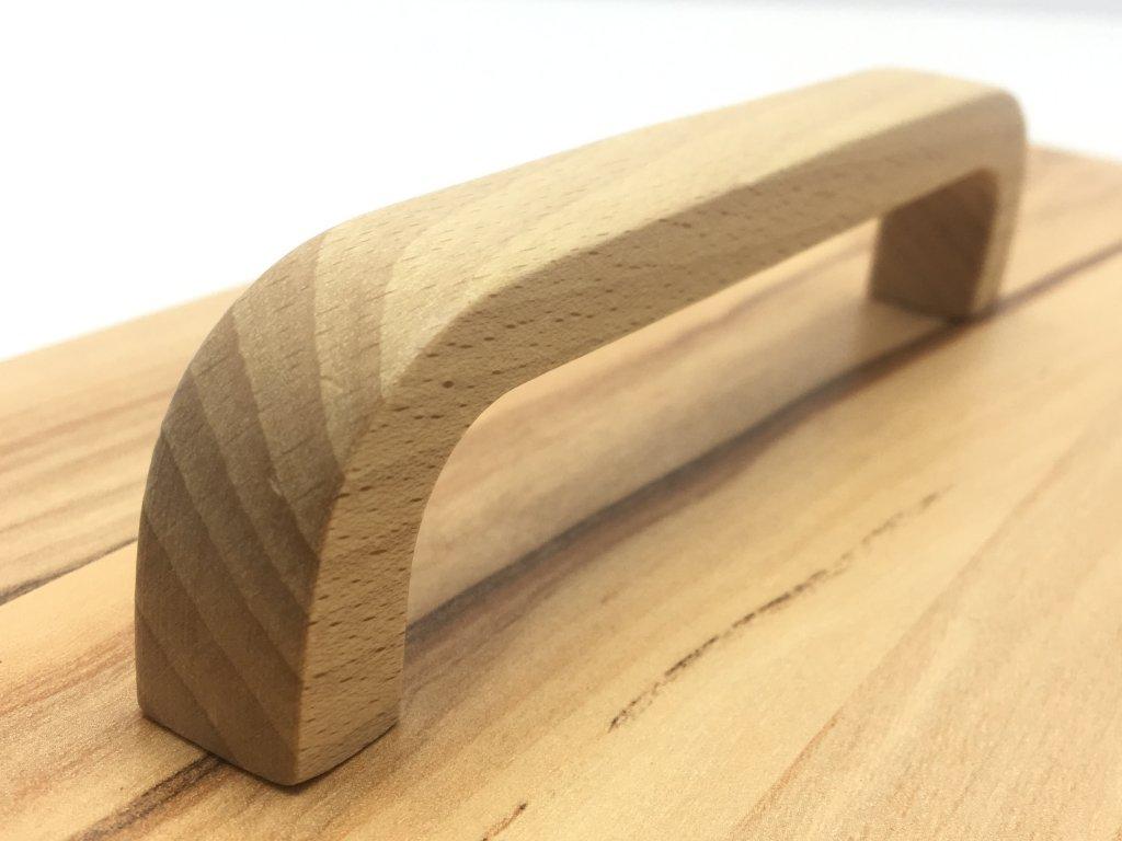 drevena uchytka logan buk lak