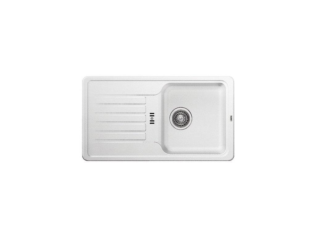 Granitový dřez Blanco FAVOS mini Silgranit bílá oboustranné provedení 521404