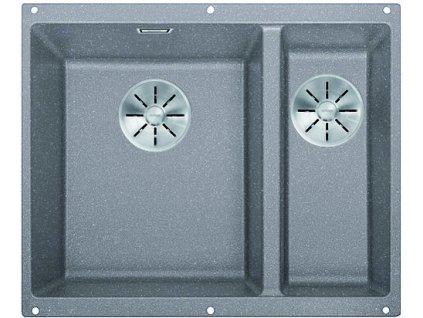 Granitový dřez Blanco SUBLINE 340/160 U InFino Silgranit aluminium bez táhla dřez vlevo 523550