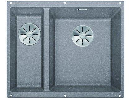Granitový dřez Blanco SUBLINE 340/160 U InFino Silgranit aluminium bez táhla dřez vpravo 523560