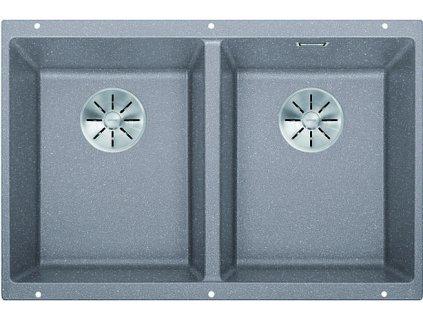Granitový dřez Blanco SUBLINE 350/350 U InFino Silgranit aluminium bez táhla 523576