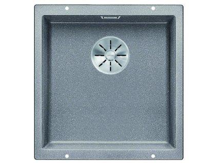 Granitový dřez Blanco SUBLINE 400 U InFino Silgranit aluminium bez táhla 523424