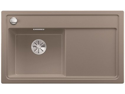 Granitový dřez Blanco ZENAR 45 S InFino Silgranit tartufo dřez vlevo s excentrem bez příslušenství 523859