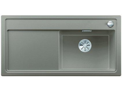 Granitový dřez Blanco ZENAR XL 6 S InFino Silgranit tartufo dřez vpravo s exc. bez příslušenství 523971