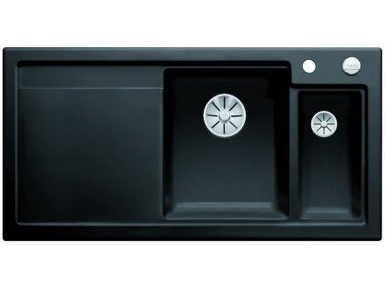 Blanco AXON II 6 S InFino Keramika černá dřez vpravo s excentrem a přisluš.