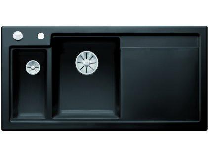 Blanco AXON II 6 S InFino Keramika černá dřez vlevo s excentrem a přisluš.