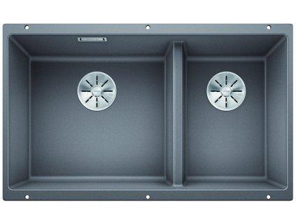 Granitový dřez Blanco SUBLINE 430/270 U InFino Silgranit aluminium bez táhla 523153