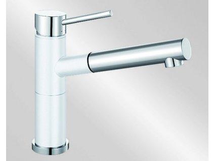 Kuchyňská baterie Blanco ALTA-S Compact Silgranit-look dvoubarevná bílá/chrom
