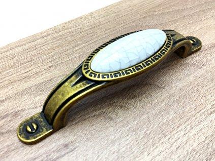 uchytka olvia zlata antik porcelan popraskany