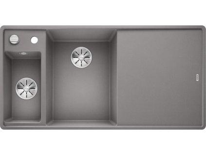 Blanco AXIA III 6 S-F InFino Silgranit aluminium sklen.kráj.deska dřez vlevo s exc.