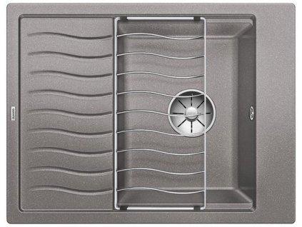 Blanco ELON 45 S InFino Silgranit aluminium obous. bez exc. + přísluš.