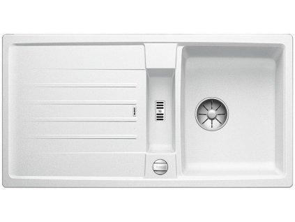 Blanco LEXA 5 S InFino Silgranit bílá oboustranný s excentrem