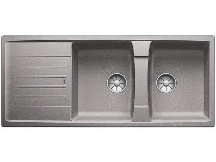 Blanco LEXA 8 S InFino Silgranit aluminium oboustranný bez excentru
