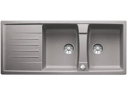 Blanco LEXA 8 S InFino Silgranit aluminium oboustranný s excentrem