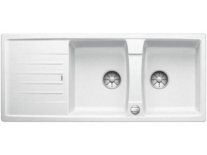 Blanco LEXA 8 S InFino Silgranit bílá oboustranný s excentrem