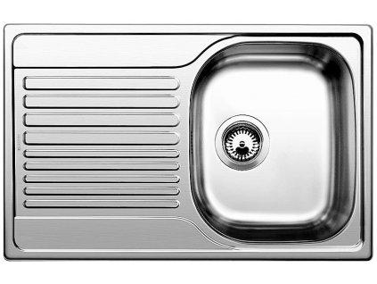 Nerezový dřez Blanco TIPO 45 S Compact Nerez kartáčovaný oboustranné provedení