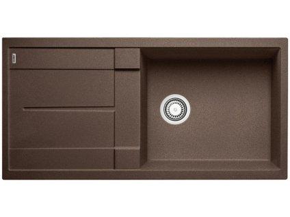 Granitový dřez Blanco METRA XL 6 S Silgranit kávová oboustranné provedení 515143