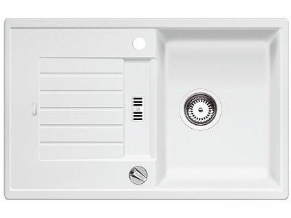 Granitový dřez Blanco ZIA 45 S Silgranit bílá oboustranné provedení s excentrem 514718
