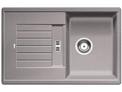 Granitový dřez Blanco ZIA 45 S Silgranit aluminium oboustranné provedení 514725