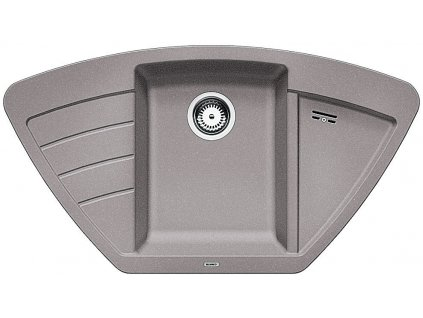 Granitový dřez Blanco ZIA 9 E Silgranit aluminium 514757