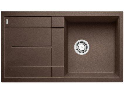 Granitový dřez Blanco METRA 5 S Silgranit kávová oboustranné provedení 515042
