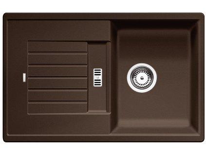Granitový dřez Blanco ZIA 45 S Silgranit kávová oboustranné provedení 515070