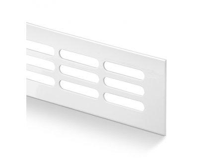 Větrací mřížka kovová 100x250 lakovaná bílá