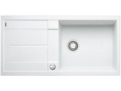 Granitový dřez Blanco METRA XL 6 S Silgranit bílá oboustranné provedení s excentrem 515280