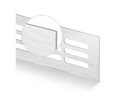 Větrací mřížka kovová 100x1000 hliník kartáčovaný