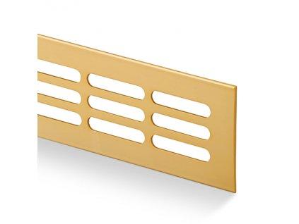 Větrací mřížka kovová 100x1000 zlatá