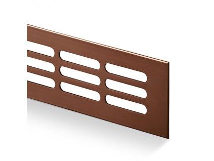 Větrací mřížka kovová 100x1000 bronz