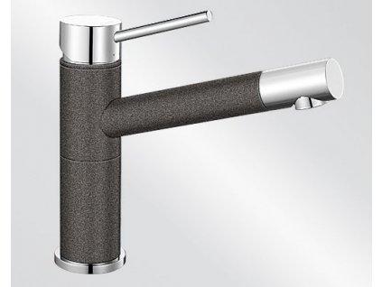 Kuchyňská baterie Blanco ALTA Compact Silgranit-look dvoubarevná antracit/chrom