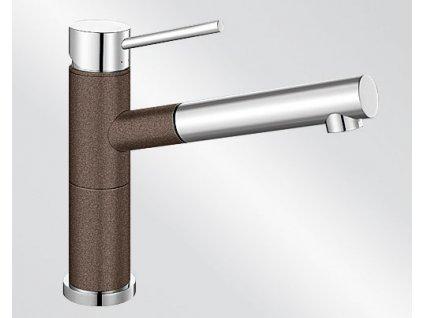 Kuchyňská baterie Blanco ALTA-S Compact Silgranit-look dvoubarevná kávová/chrom