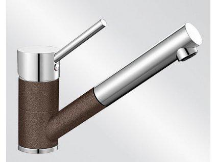 Kuchyňská baterie Blanco ANTAS-S HD Silgranit-look dvoubarevná kávová/chrom