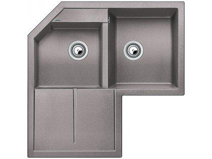 Granitový dřez Blanco METRA 9 E Silgranit aluminium 515567