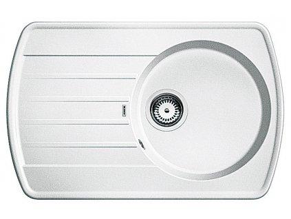 Granitový dřez Blanco RONDOVAL 45 S Silgranit bílá oboustranné provedení 515764