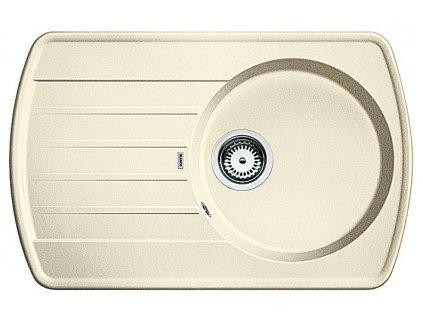 Granitový dřez Blanco RONDOVAL 45 S Silgranit jasmín oboustranné provedení 515765
